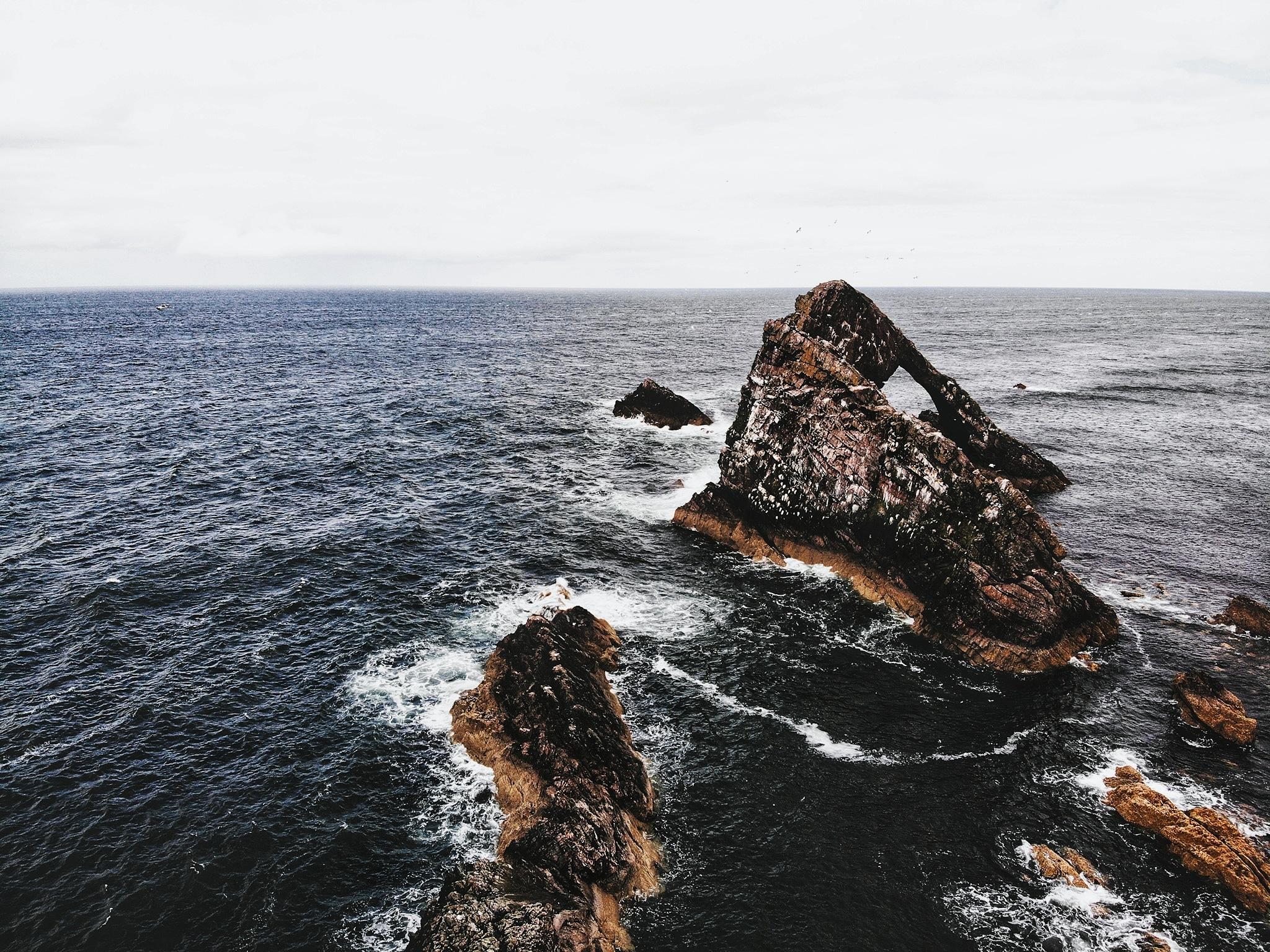 Bow Fiddle Rock Écosse Paysage Voyage Écossais