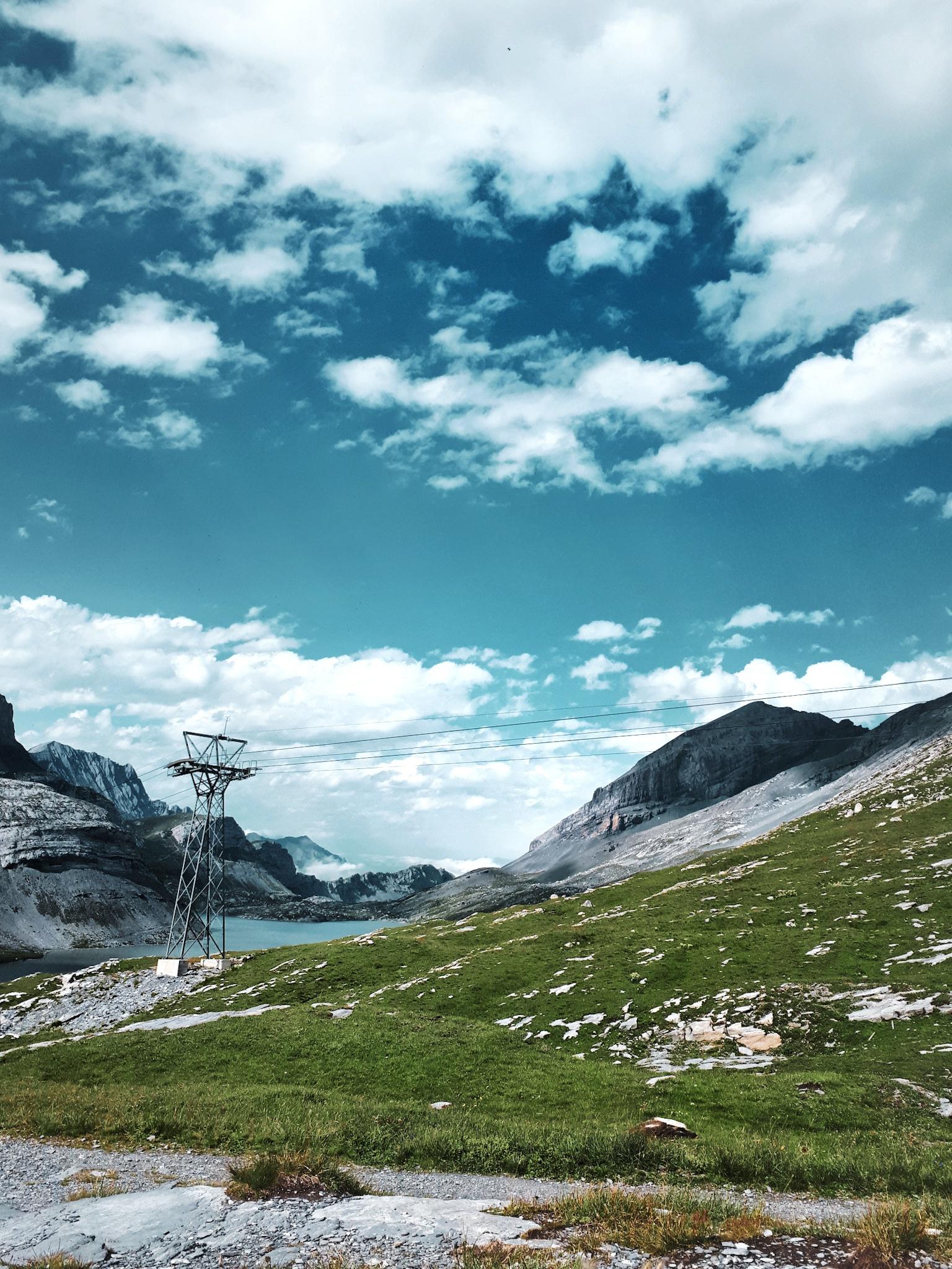 Leukerbad Suisse Montagne Été Valais Marche Randonnée Gemmi